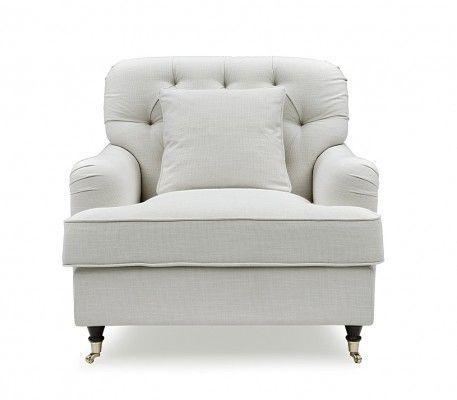 Howard Style Fåtölj Off White – Tygsoffa