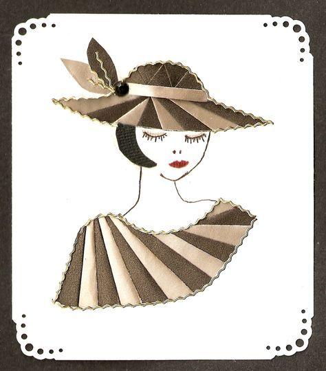 Hat lady card Iris folded. - Scrapbook.com