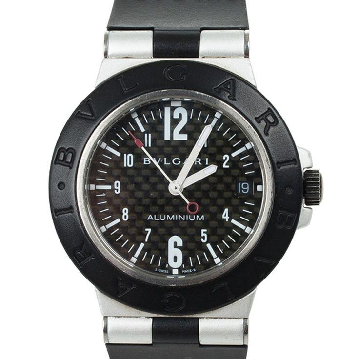 Bvlgari Diagono Aluminium Rubber Unisex Wristwatch 38 MM