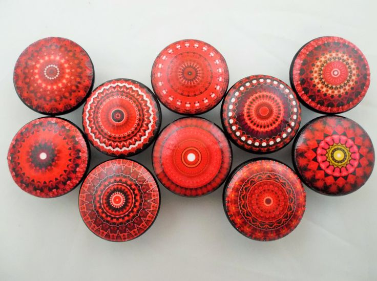 Beautiful Red Crystal Cabinet Knobs