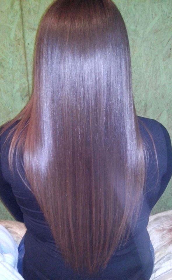 Aplicacion de botox en el cabello