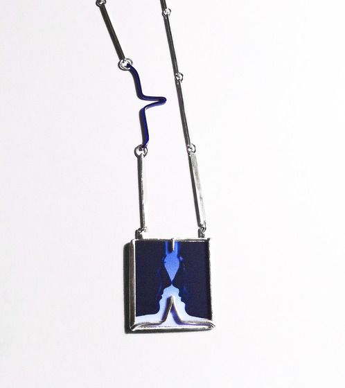 https://www.cityblis.com/1329/item/17388  BlueProfile - $200 by OGIGIOIELLI  Necklace, silver, pic by Sabrina De Polo