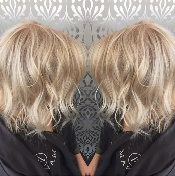 Blonde, Platinum, Ice Blonde, Bob, Messy Bob, Short Hair, Hair Ideas, Beach Hair, Hair by Lindsay
