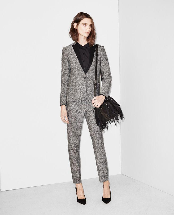 Costume en jacquard léopard - Costumes - Femme - The Kooples