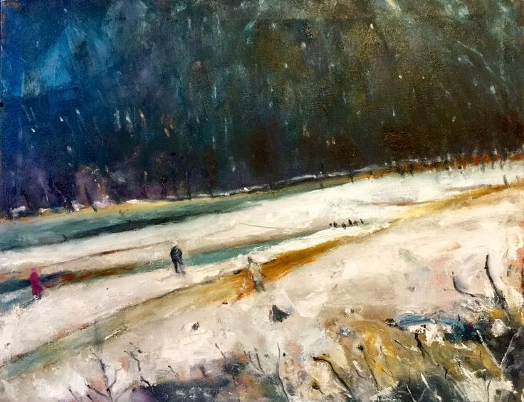 The Winterland, oil on canvas
