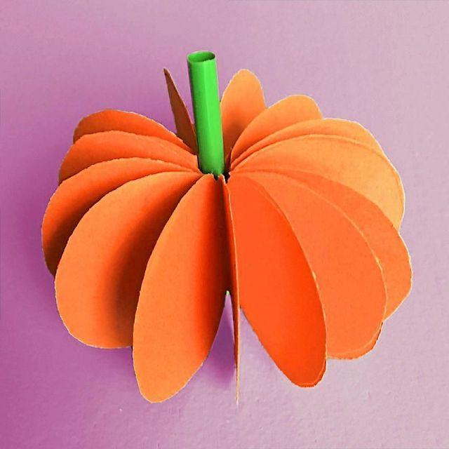 Gör en läskigt söt pumpa av papper till halloween | Land