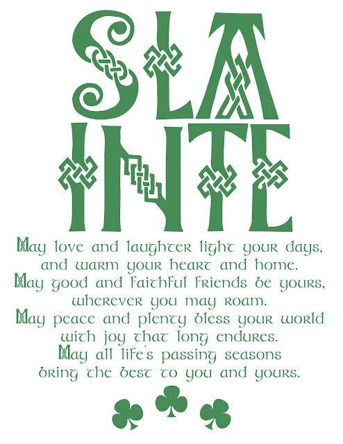 An Irish blessing (printable). #Irish #StPatty'sDay
