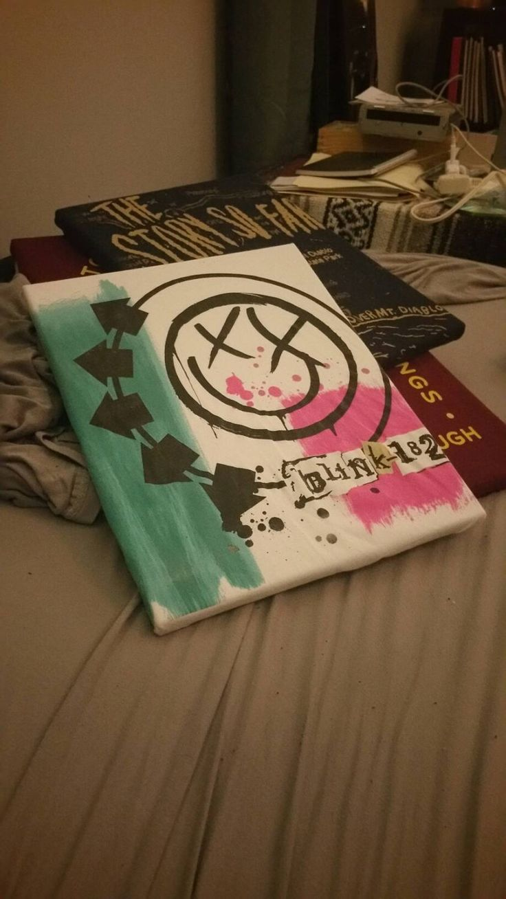 Blink 182 T Shirt wall decor hanging self titled pop punk collectable display by sierrashoots on Etsy https://www.etsy.com/listing/398828231/blink-182-t-shirt-wall-decor-hanging
