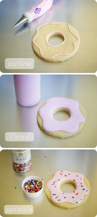 How to make cute and easy donut cookies (Bake@350).