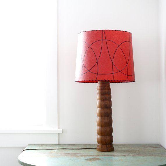 Vintage Teak Lamp 1960s Danish Modern Style Large Dark Wood Etsy Table Lamp Wood Lamp Dark Wood Table