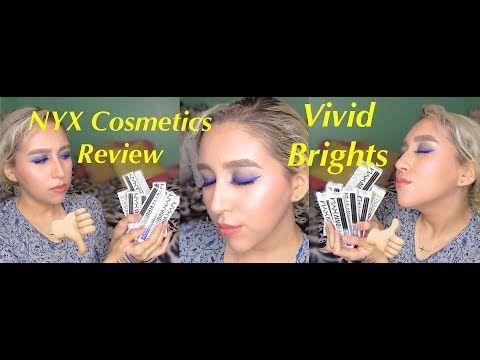 NYX Cosmetics *VIVID BRIGHTS Review and Tutorial * http://cosmetics-reviews.ru/2017/12/19/nyx-cosmetics-vivid-brights-review-and-tutorial/