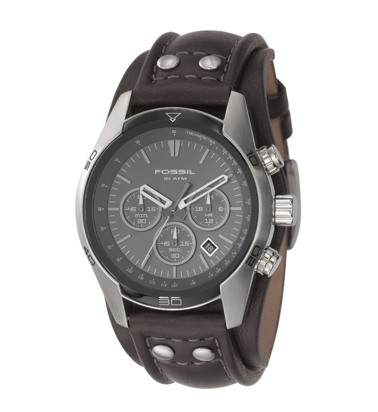 Fossil herren armbanduhr chronograph leder schwarz sport ch2586