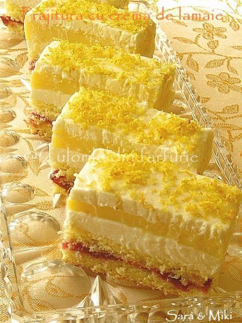 Prajitura cu crema de lamaie ~ Culorile din farfurie