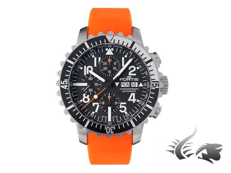 Fortis Marinemaster Chronograph Automatic Watch, ETA 7750, Black, SIli   Iguana Sell