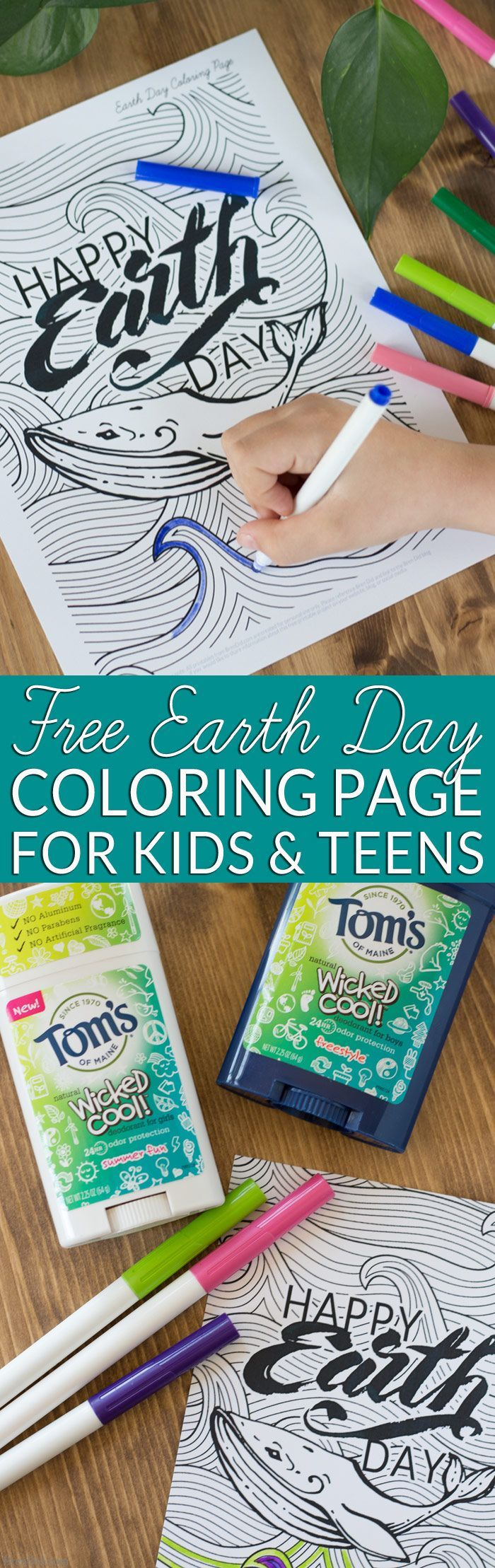 Earth day coloring pages for adults - Earth Day Activity For Kids Free Printable Coloring Page