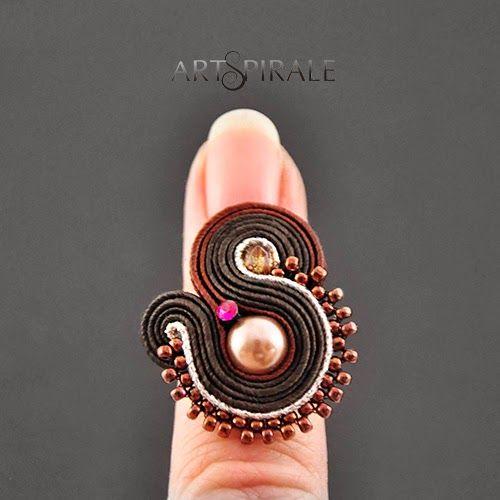ARTSPIRALE artystycze wyroby z duszą: Czekoladowy pierścionek.