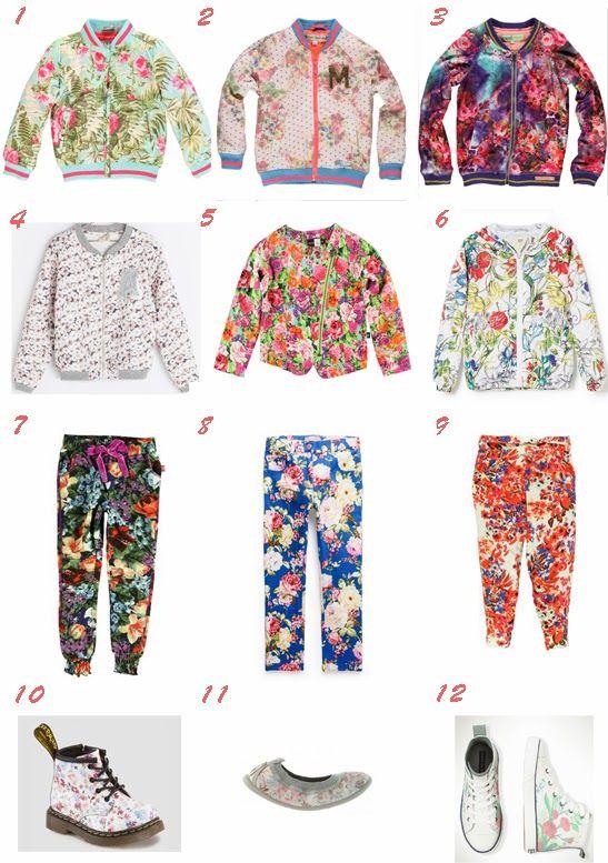 Selección moda niña primavera verano 2014 tendencia floral
