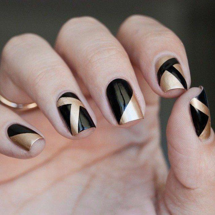 Art Deco Ladies | Black Matte French Manicure further Imagenes De Thalia 2015 also Spa ...