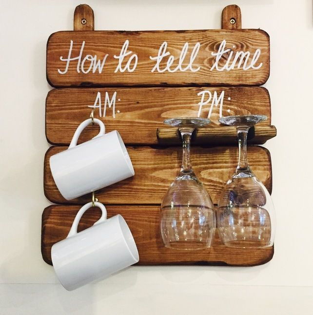 How to Tell Time AM PM board - Mugs and Glasses £19.95