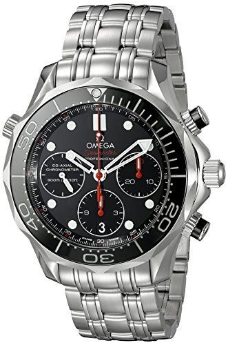 Men's Wrist Watches - Omega Seamaster Diver 300 M CoAxial Chronograph 415 mm Mens Watch 21230425001001 * Want to know more, click on the image.