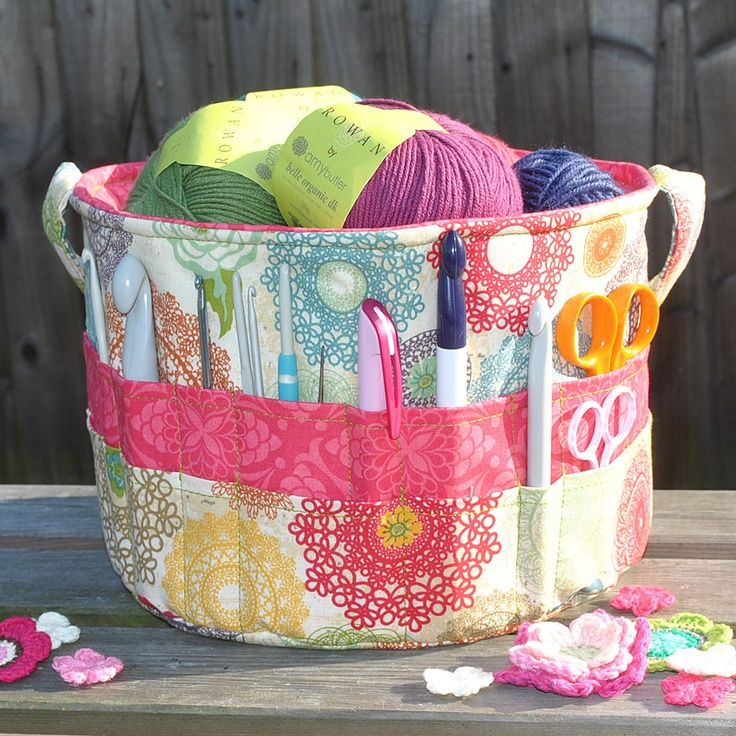 The Ultimate Crochet and Knitting Tote Bag Sewing Pattern - by Sew Sweet #crochet #sewing