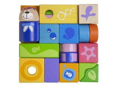 Set cubetti 23 pezzi in legno Chicco. Con questo set il bambino può creare con la fantasia tante composizioni differenti dove far vivere il simpatico orsetto o ricreare il puzzle iniziale all'interno della scatola, per un divertimento senza fine!
