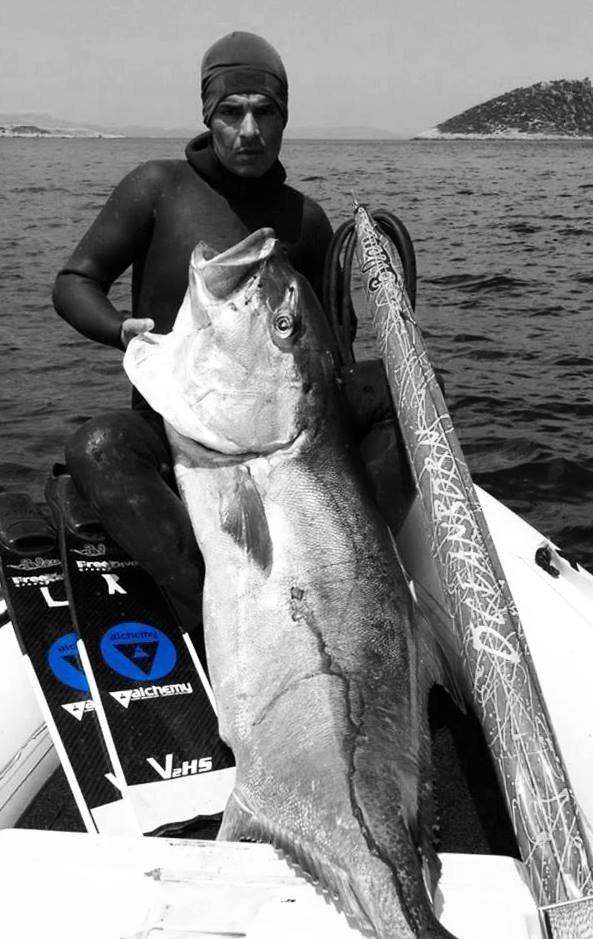 Christos and the great amberjack of Aegean Sea (58kg)