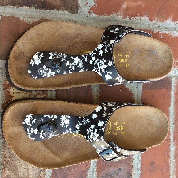 Birkenstock Floral Sandals Papillon-Birkenstock floral sandals. Bought in Germany. Gently used. Birkenstock Shoes Sandals