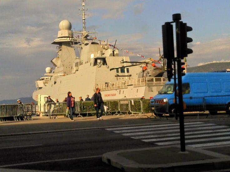 Memento Solonico: Navi nel porto di Trieste il 4 e 5 novembre 2014 - Cavour e Fasan
