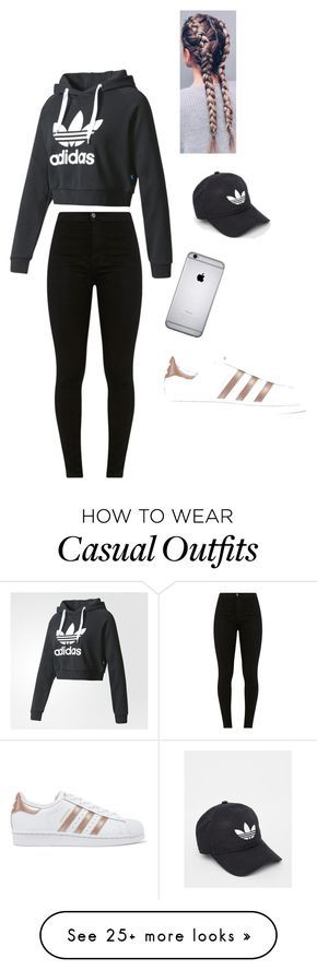 """""""Sporty Casual """" by pjabour on Polyvore featuring adidas and adidas Originals"""