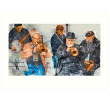 Musical Mates in Flinders Lane Art Print