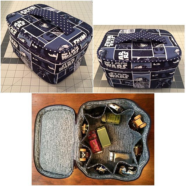 Crimson and clover train case in star wars fabric pattern for Fabric with trains pattern