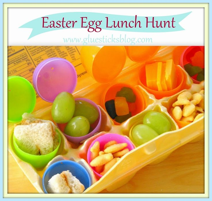 Egg Hunt Idea Easter Party | Lunch time has never been so fun!