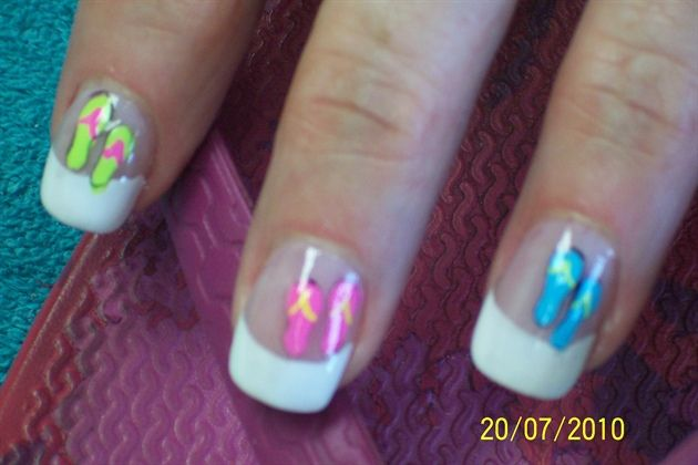 flip flop by aliciarock - Nail Art Gallery nailartgallery.nailsmag.com by Nails Magazine www.nailsmag.com #nailart
