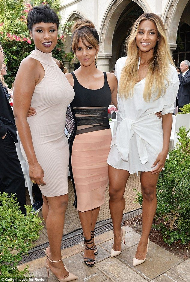 Leggy ladies: The beauty posed alongside singers Jennifer Hudson and Ciara...