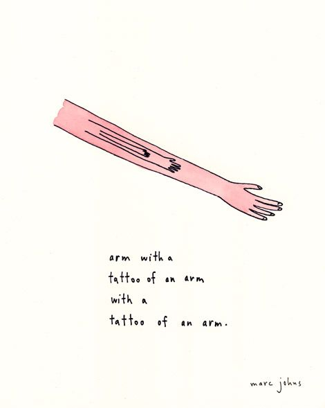 Marc Johns: arm with a tattoo of an arm