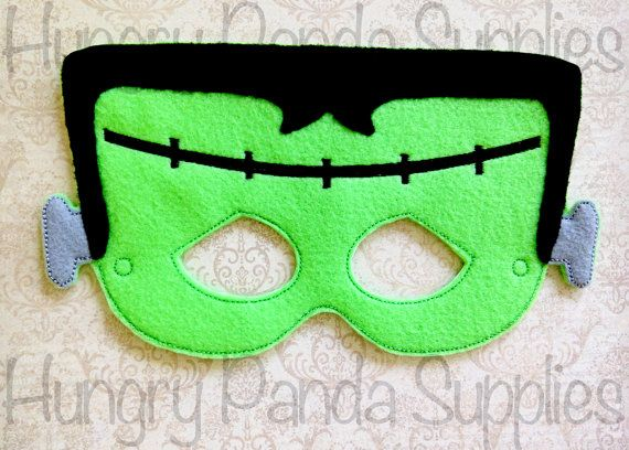 Frankenstein Mask Embroidery Design by HappilyAfterDesigns on Etsy