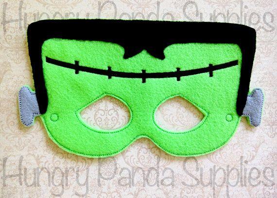 Frankenstein Mask Embroidery Design by HappilyAfterDesigns on Etsy