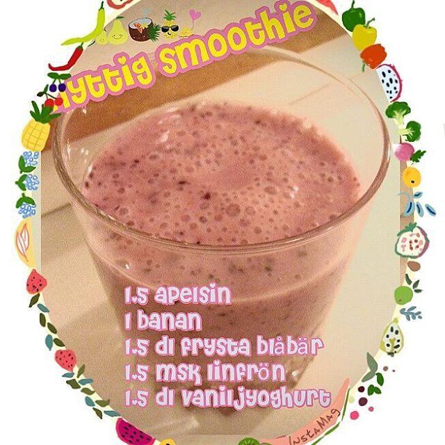 2 port. nyttig smoothie  1,5 pressad apelsin (stora apelsiner eller 2 normalstora) 1 banan 1,5 dl frysta blåbär 1,5 eller en halv msk linfrön 1,5 dl vaniljyoghurt  Mixa och servera i glas. :) @minamatrecept #minamatrecept #dryck #smoothie #smoothies #mellanmål #frukost #nyttigt #apelsin #banan #blåbär #linfrön #vaniljyoghurt #mat #hemlagat #mattips #mittkök @mittkok #svenskakulturnyheter @svenskakulturnyheter