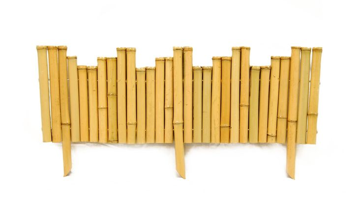 """Bamboo Border - Natural 7/8"""" D x 8"""" H x 23"""" L - 5 Pack Bundle. An environmentally-friendly accent piece, bamboo borders can easily enhance flower beds, gardens and other manicured, outdoor areas."""