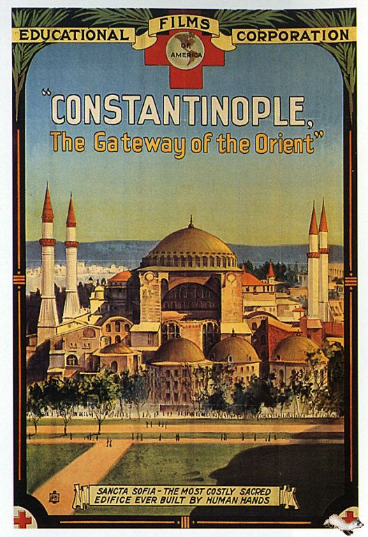 Constantinople travel poster