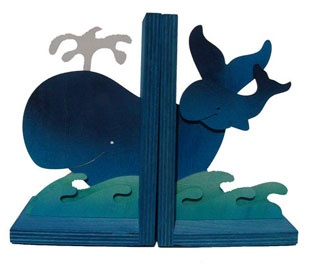 Whale Book Ends. I really love this one