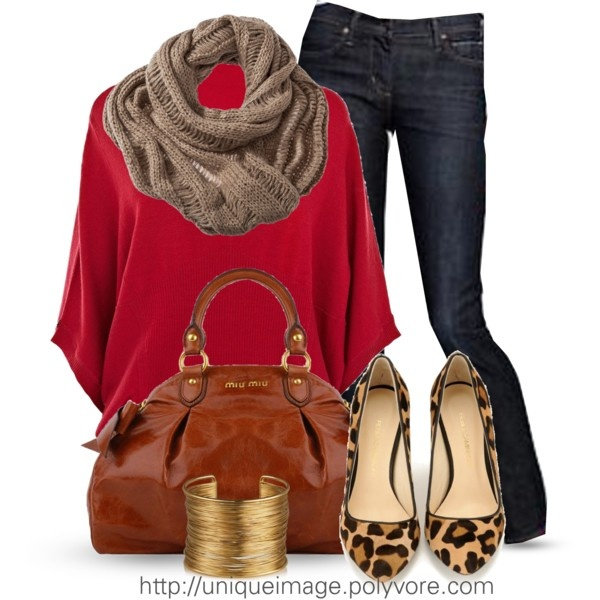 Love the red and animal print!