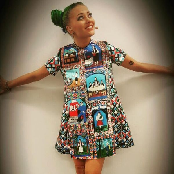 Delia, singer The Multi Cemetery dress by Lana Dumitru  #lana #dumitru #lanadumitru #digitalprint