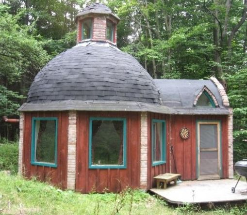 peter roberts concrete dome tiny house  The Green Life <3