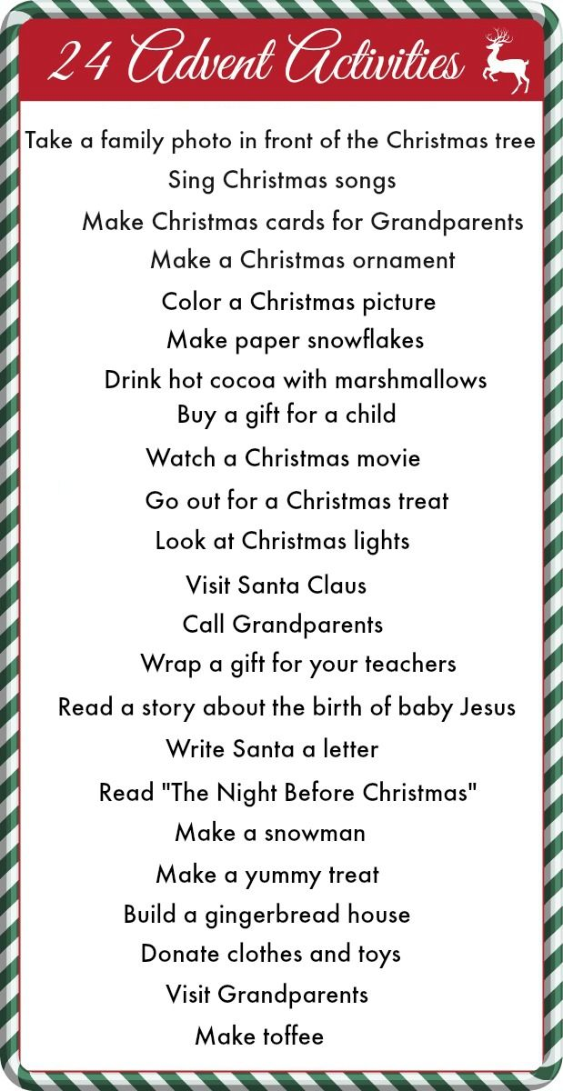 24 Advent Activities