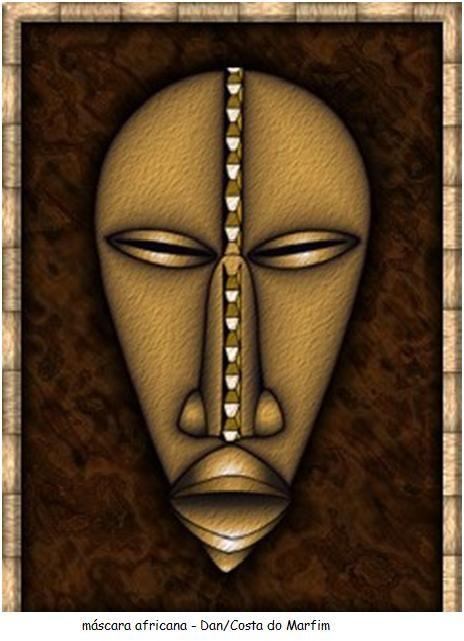 1 - Fazer uma leitura sobre as máscaras africanas e suas origens;  máscara da etnia Lwalwa da República Democrática do Congo, essa máscara é...