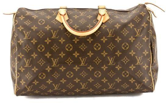 Louis Vuitton Monogram Canvas Speedy 40 Bag