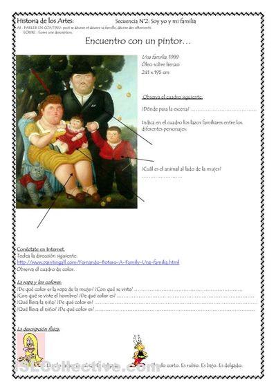 Encuentro con un pintor... Fernando Botero trabajos - Hojas de trabajo de ELE gratuitas espagnol.hispania.over-blog.com