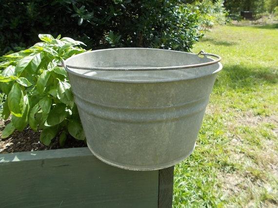 Galvanized Steel Tub Garden Planter